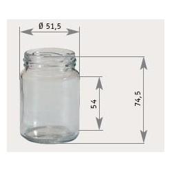 Pots Verre Standard 106Ml 125G (x20)