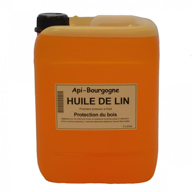 Huile de lin bidon de 10 l api bourgogne for Huile lin bois exterieur