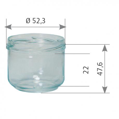 Pots Verre Standard 70Ml 100G (x20)