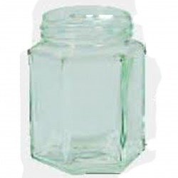 Pots Verre Hexagonal 195Ml 250G (x12)