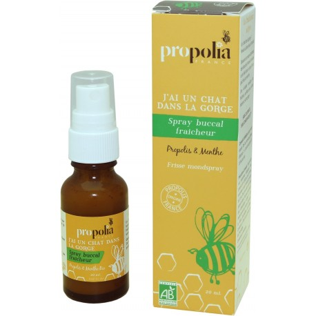 Spray Buccal Fraicheur Propolis Menthe Bio 20Ml